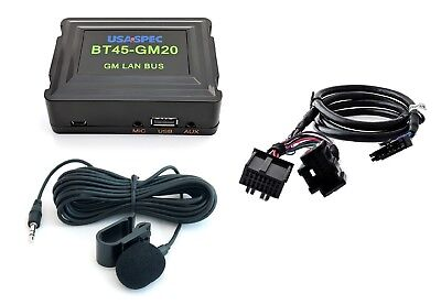 Bluetooth phone & streaming music interface kit for GM radio w/ XM.Android Apple