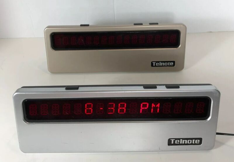 Lot of 2 Telnote TL-1215 Large Screen Caller ID Clock LED Display, For Parts