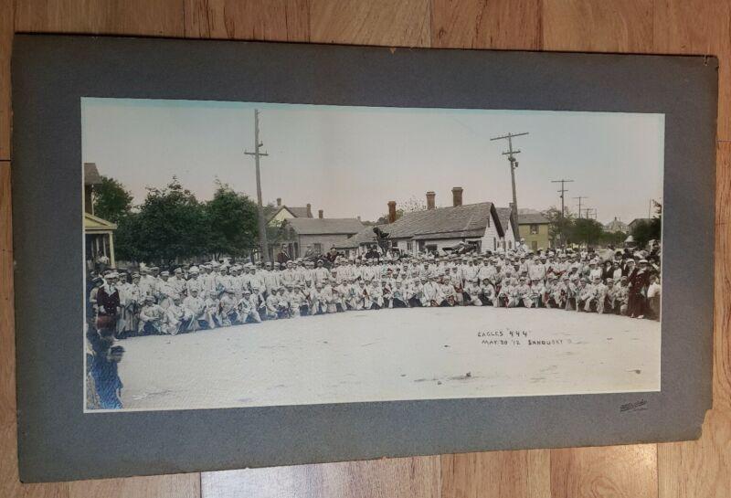 Vintage 1912 Fraternal Order of Eagles Panoramic Photograph #444 Sandusky Ohio