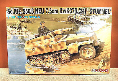 1/35 DRAGON Sd.Kfz. 250/8 7.5CM KwK37 L/24 MODEL KIT 6102