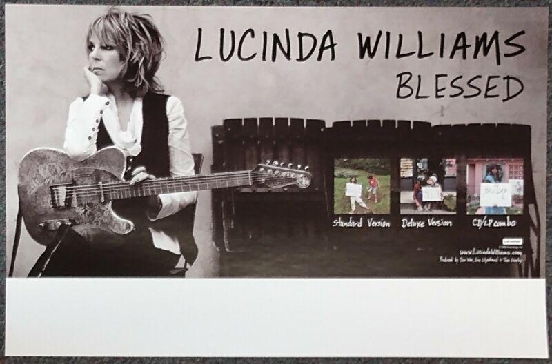 Lucinda Williams Blessed 2011 PROMO POSTER