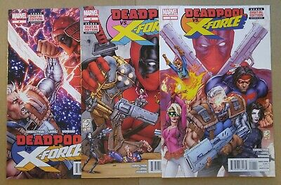 Cable Vs Deadpool (**Deadpool Vs. X-Force # 1, 2, 3 & 4** COMPLETE!! CABLE! MARVEL!! X-FORCE!)