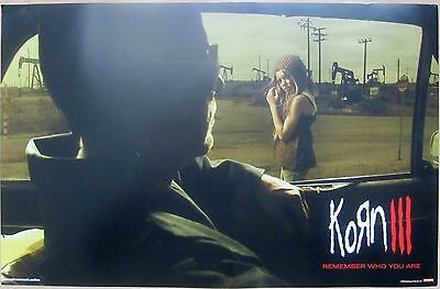 Korn - KORN III - REMEMBER WHO YOU ARE Promo Poster [2010] - VG+