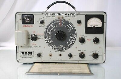 Vtg Sprague Transfarad Capacitor Analyzer Model Tca-1 Resistor Resistance Tester