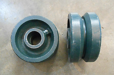 Cast Iron V-groove Wheelscasters Qty-2 4 Dia X 2w Ec4-5