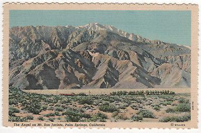PALM SPRINGS CALIFORNIA PC Postcard MT SAN JACINTO ANGEL Stephen Willard CALI