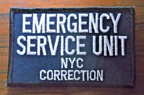 GEMSCO NOS DCNY Patch EMERGENCY SERVICE UNIT NYC CORRECTION - NY Original 30+