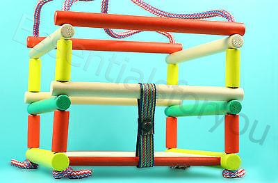 New Indoor Outdoor Kids BABY,Children/Toddlers Wooden Rope Garden Swing,no hooks