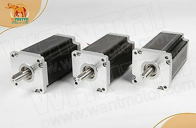 Wantai 3pc Nema42 Stepper Motor 110bygh201-001 8a 201mm 4200oz-in Cnc Router