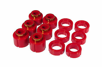 Prothane 88-98 GM Chevy K1500 K2500 Silverado Regular Cab Body Mount Red Kit