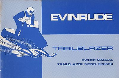 manuals 15 trainers4me 1974 evinrude snowmobile trailblazer owners manual p n 263671 760