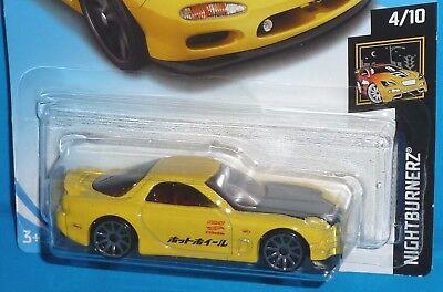 2018 HOT WHEELS '95 Mazda RX-7 #16/365 Nightburnerz 4/10 1995 NIP