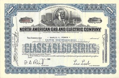 NORTH AMERICAN GAS AND ELECTRIC COMPANY.....1932 CLASS A STOCK CERTIFICATE
