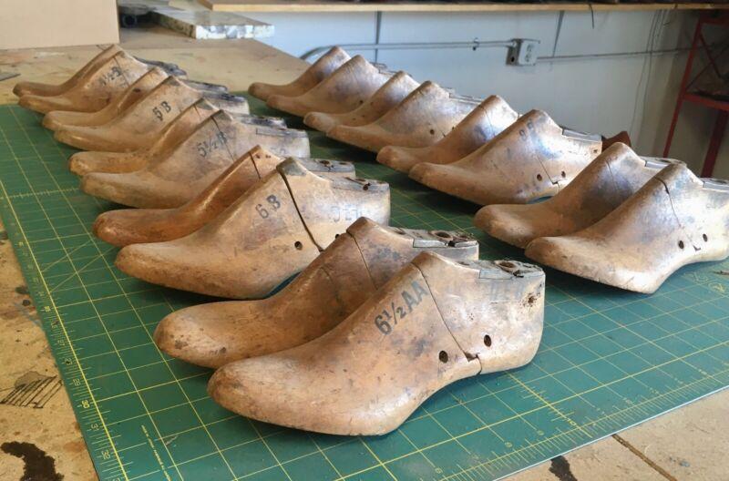 Lot of Vintage Wooden Shoe Lasts - 9 Pair in Women