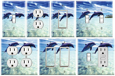 Dolphin - Graphics Art Toggle/Rocker/GFCI/Outlet Wall Plate