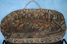 Unique Papua New Guinea Souvenir Artifact Wooden Storyboard Warana Maroochydore Area Preview