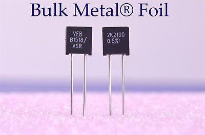 Two Vishay Precision Bulk Metal Foil Resistors 2.210 Kilohm 0.5 Y0052k21000d0l