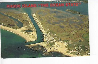 Aerial View: Quonochontaug, Rhode Island POSTCARD!