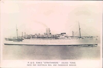 Postcard Shipping ocean liners P & O RMS Strathmore Real Photo posted 1936