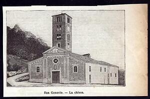 CASTAGNETO-PO-SAN-GENESIO-LA-CHIESA-XILOGRAFIA-LE-CENTO-CITTA-039-D-039-ITALIA-1899