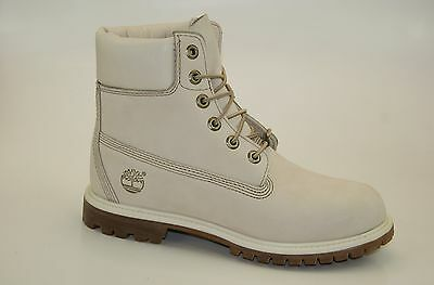 Timberland 6 Inch Premium Boots Waterproof Stiefel Damen Schnürstiefel 23623 (Damen Weiß Timberland Boots)