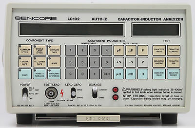 Sencore Lc102 Auto-z Capacitor Inductor Analyzer Lc 102 Auto Z Needs Power Cord