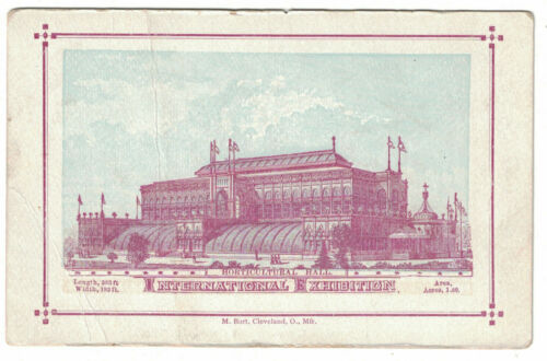 1876 Centennial Exhibition Card -- Horticultural Hall - Burt