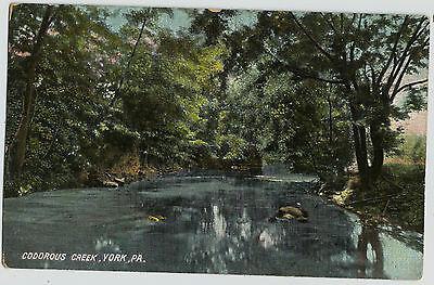 York Pa Codorus Creek Old Vintage Postcard