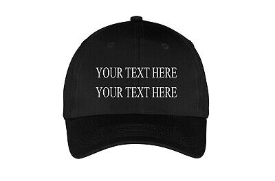 Custom Personalized Black EMBROIDERED Hat Cap TIMES Trucker Baseball - Personalized Baseball