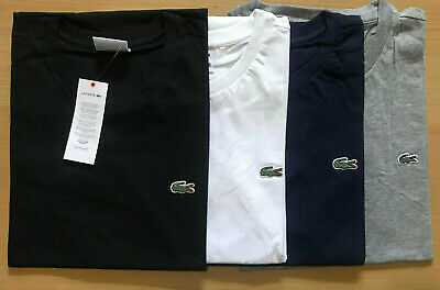 Lacoste Mens T-Shirt Crew Neck Short Sleeve 100% Cotton S/M/L/XL