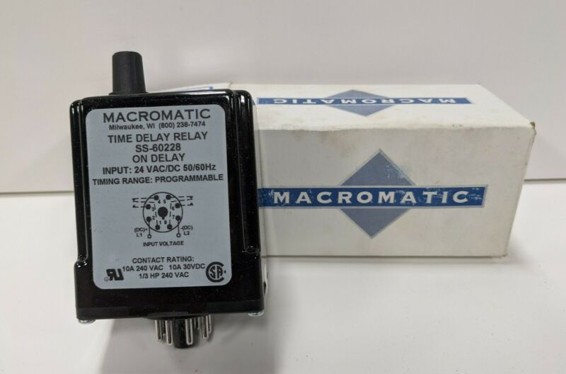 Macromatic Solid State Time Delay Relay SS-60222