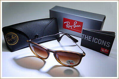 Original Ray Ban RB-4171 Erika Classic Sunglasses Tortoise/Polarized  710/T5 (Ray Ban Original Round Sunglasses)