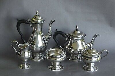 Very Fine Early 1900s 5-piece CURRIER & ROBY Sterling Silver Tea Set 2510 Grams