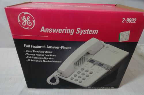 VTG G E ANSWER PHONE ANSWERING MACHINE 2-9892 12 NUMBER MEMORY NOS
