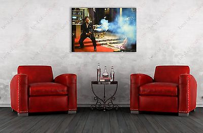 Scarface #2 Al Pacino Movie Painting Canvas Print Art Home Decor Wall