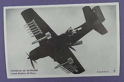 Douglas AD Skyraider Attack Bomber US Navy Postcard - Unused Vintage Stock Item