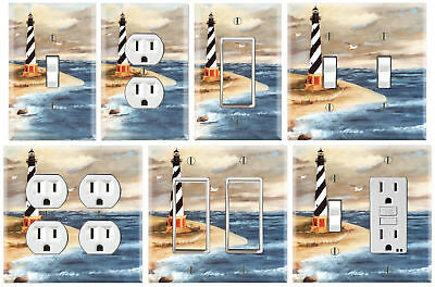 Lighthouse Beach - Graphics Art Toggle/Rocker/GFCI/Outlet Wall Plate