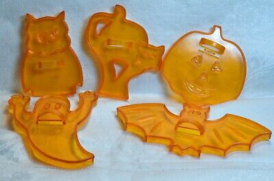 Amscan Vintage Halloween Cookie Cutter - Bat Pumpkin Owl Cat Ghost Haunted House