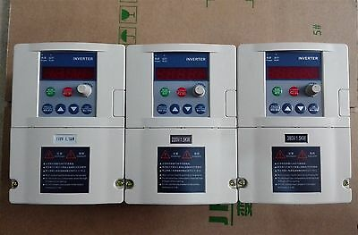 Input 1hp-110v Output 3ph-110v 0.75kw 7a Vfd Inverter Frequency Converter 400hz
