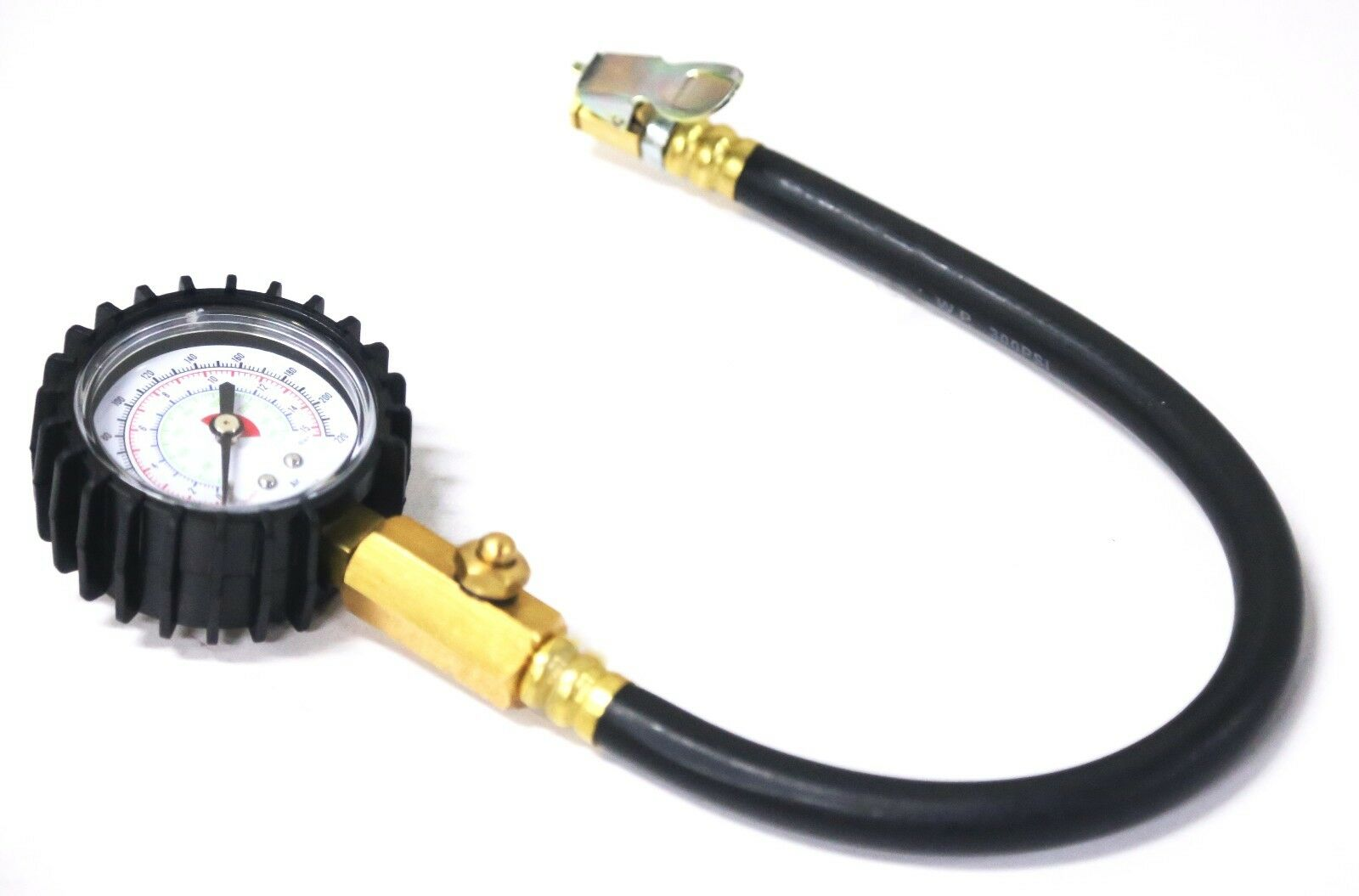 220 psi dial tire gauge with hose tire pressure gauge with deflator air tools new for sale in. Black Bedroom Furniture Sets. Home Design Ideas