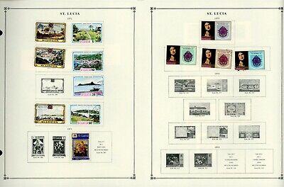 ST. LUCIA Scott International Album Page Lot #10 - SEE SCAN - $$$