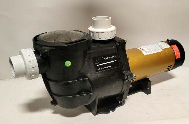 """2 speed 2HP Inground Swimming Spa Pool Pump 5850 GPH Dual Speed Motor 2"""" NPT"""