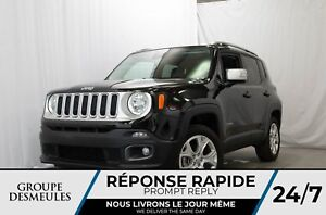 Jeep Renegade limited + cuir + gps + toit + awd 2017