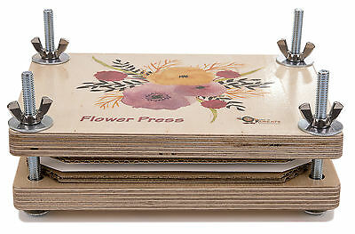 Flower Press Deluxe Wooden Kit Best Quality Will Not Bend Under Pressure