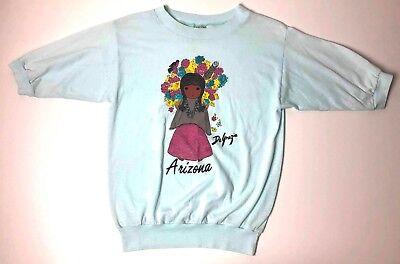 Rare DeGrazia Flower Girl Art Arizona Vintage Shirt Top Size Small