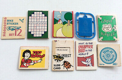 Lot of Vintage Cracker Jack Toys Prizes Book ID Tag Frame Tattoos Bike Stickers