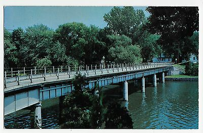 Fort Atkinson WI Wisconsin Robert Street Bridge Vintage Postcard