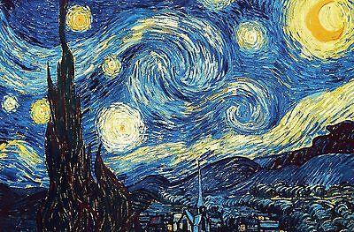 STARRY NIGHT Vincent Van Gogh Poster Art Print 24x36 Large Landscapes