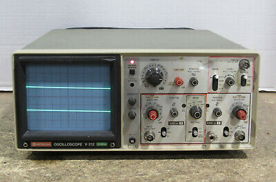 Hitachi Model V-212 20mhz Two-channel Analog Oscilloscope Tested And Working