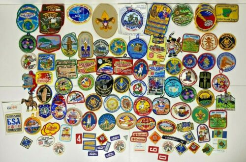 Large Lot of Boy Scout Patches & Assorted Paraphernalia